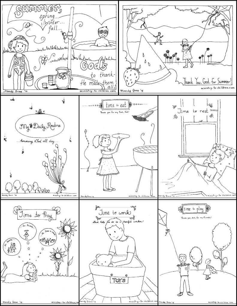 Books Of the Bible Worksheets as Well as Free Printable Summer Coloring Pages for Kids 9 Sheet