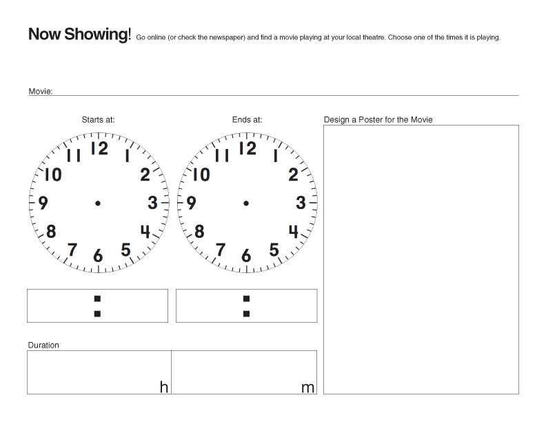 Clock Time Worksheets as Well as E is for Explore now Showing