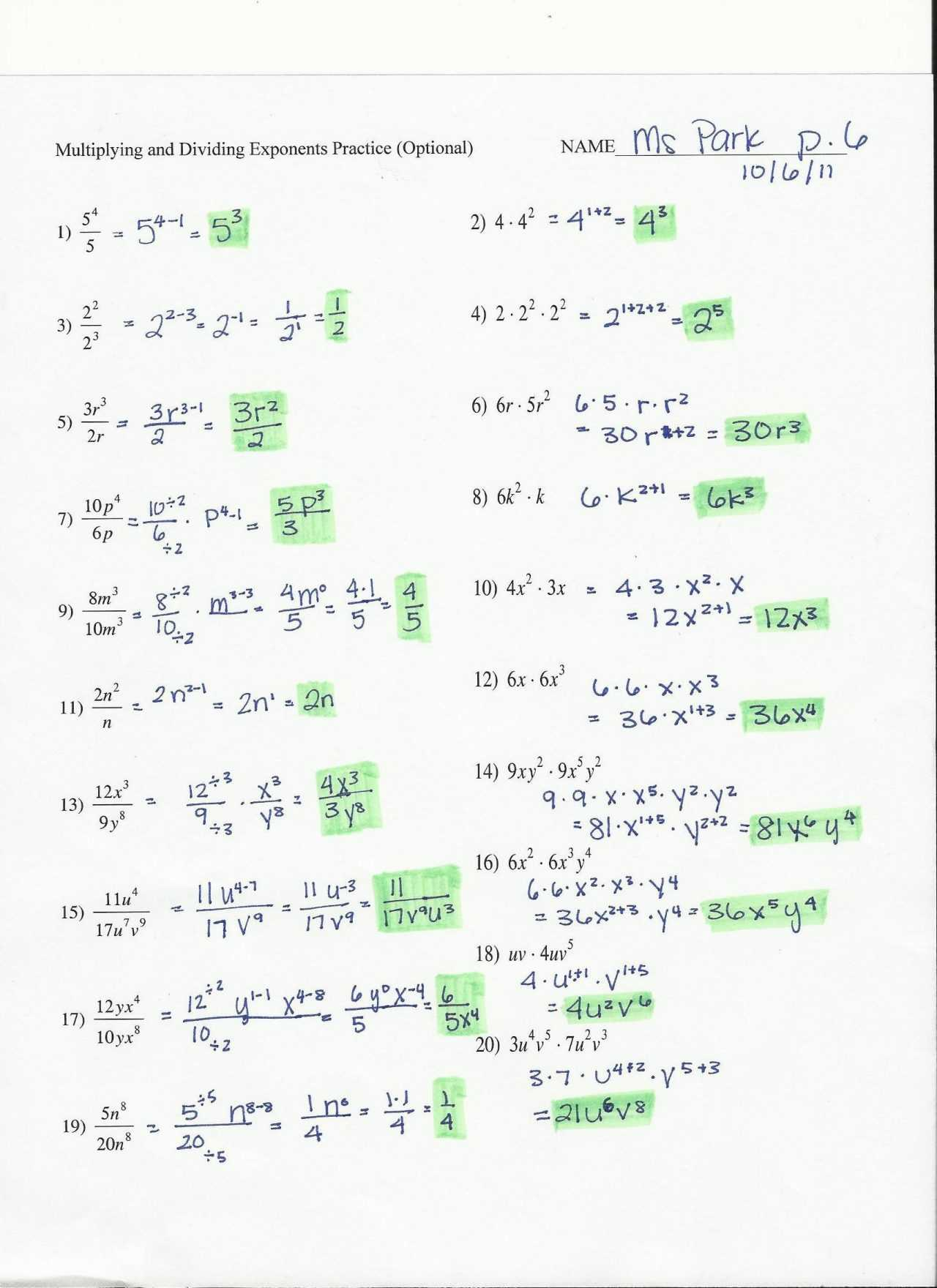Did You Hear About Math Worksheet Algebra with Pizzazz Answers Also Algebra with Pizzazz Moving Words Page Answers Answer Key Math