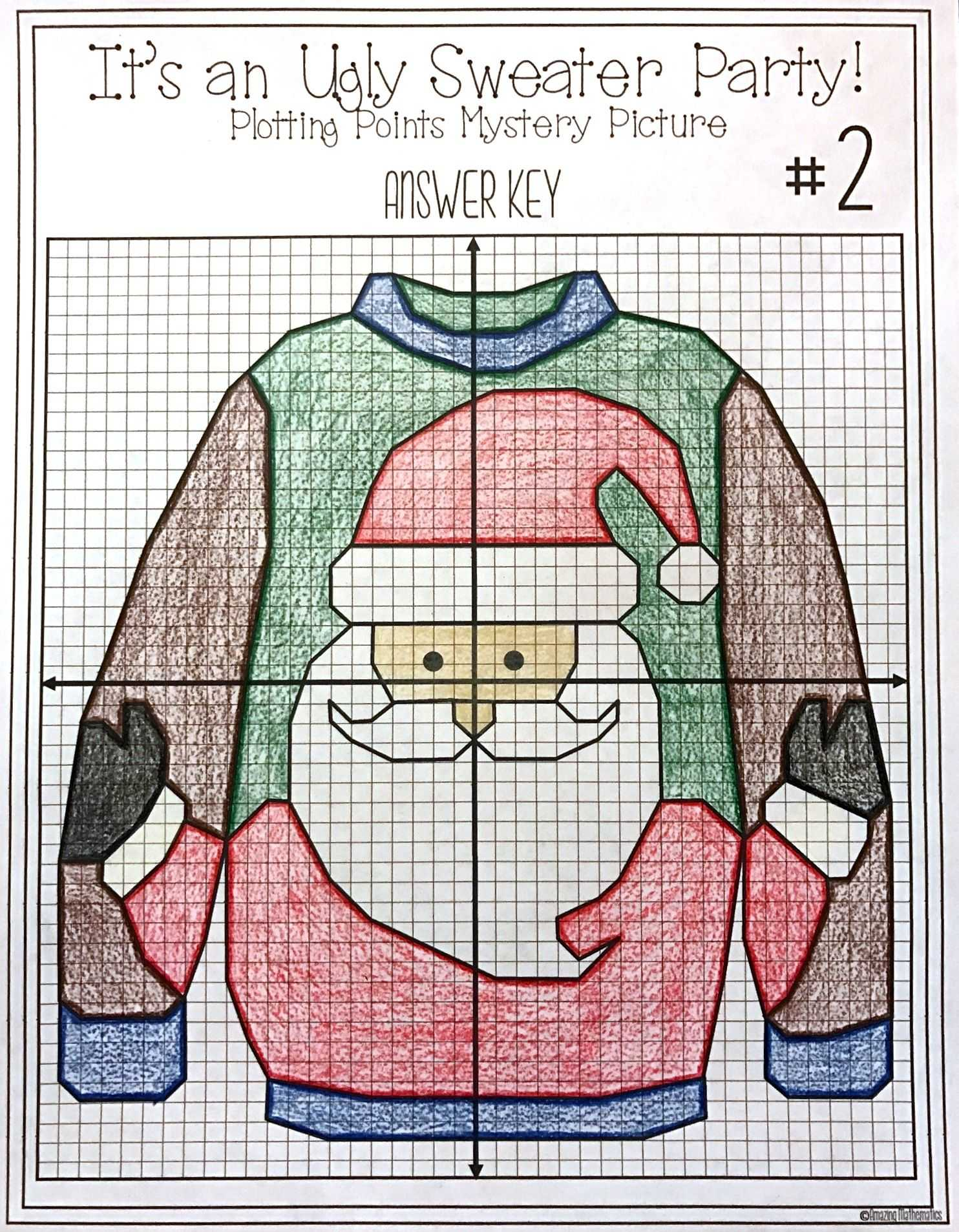 Domain and Range Worksheet Answers Also Christmas Math Activity Ugly Sweaters Plotting Points Mystery