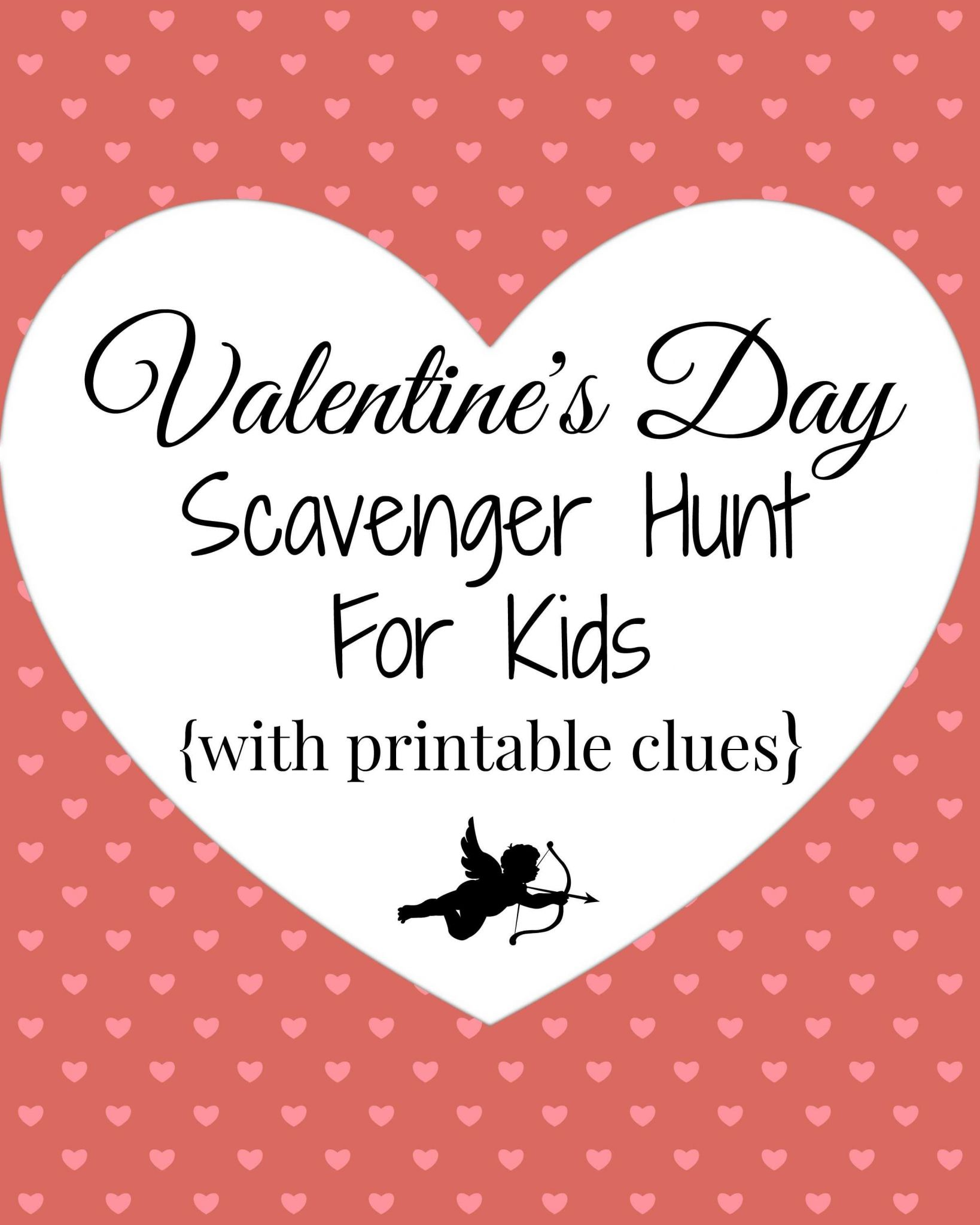Internet Scavenger Hunt Worksheet as Well as Valentine S Day Scavenger Hunt for Kids with Printable Clues