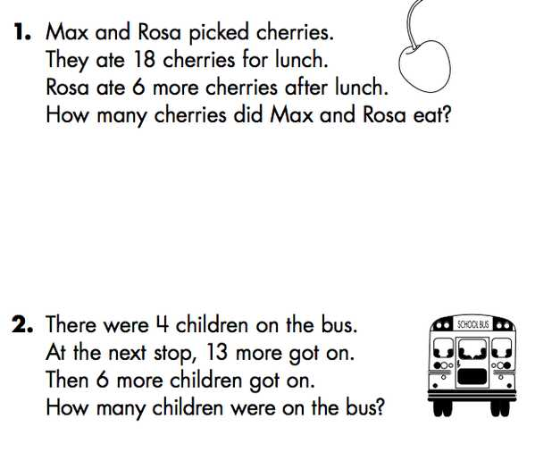 Kindergarten Word Worksheets with 1st Grade Story Problems