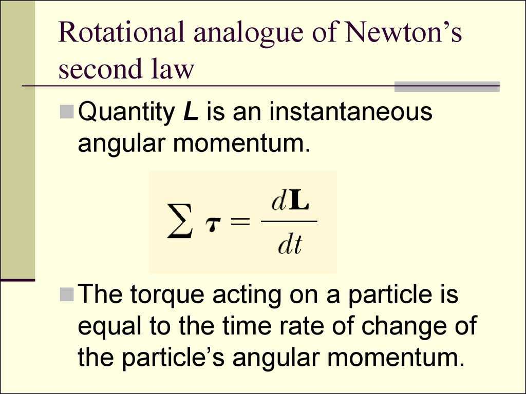 Newton's Second Law Of Motion Worksheet Answers Along with Rotation Of Rigid Bo S Angular Momentum and torque Prope