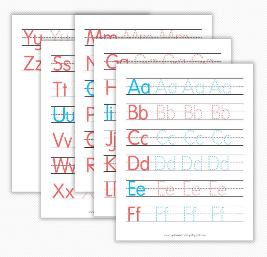 Printable Letter Worksheets for Preschoolers Along with My Strawberry Baby Free Printable Preschool Alphabet and