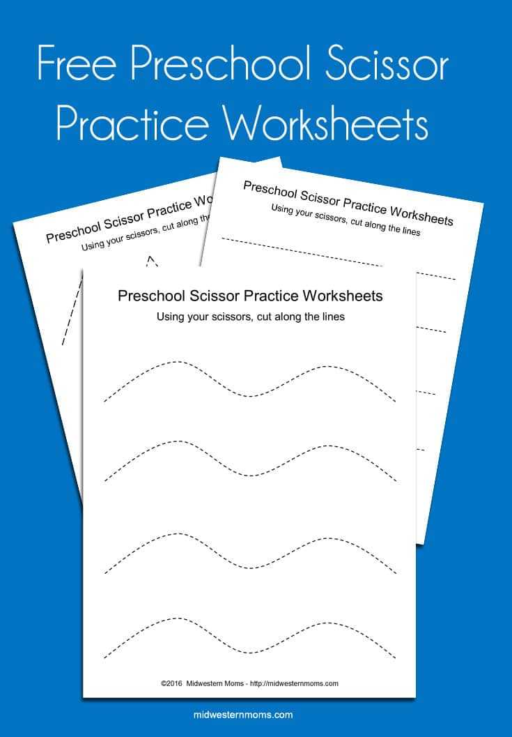 Shapes Worksheets for Preschool together with Scissor Practice Worksheets Cutting Shapes Midwestern Moms