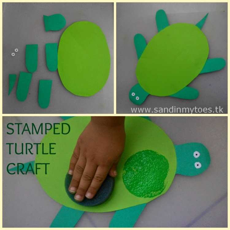 Shapes Worksheets for Preschool with Busy Hands Stamped Turtle Craft