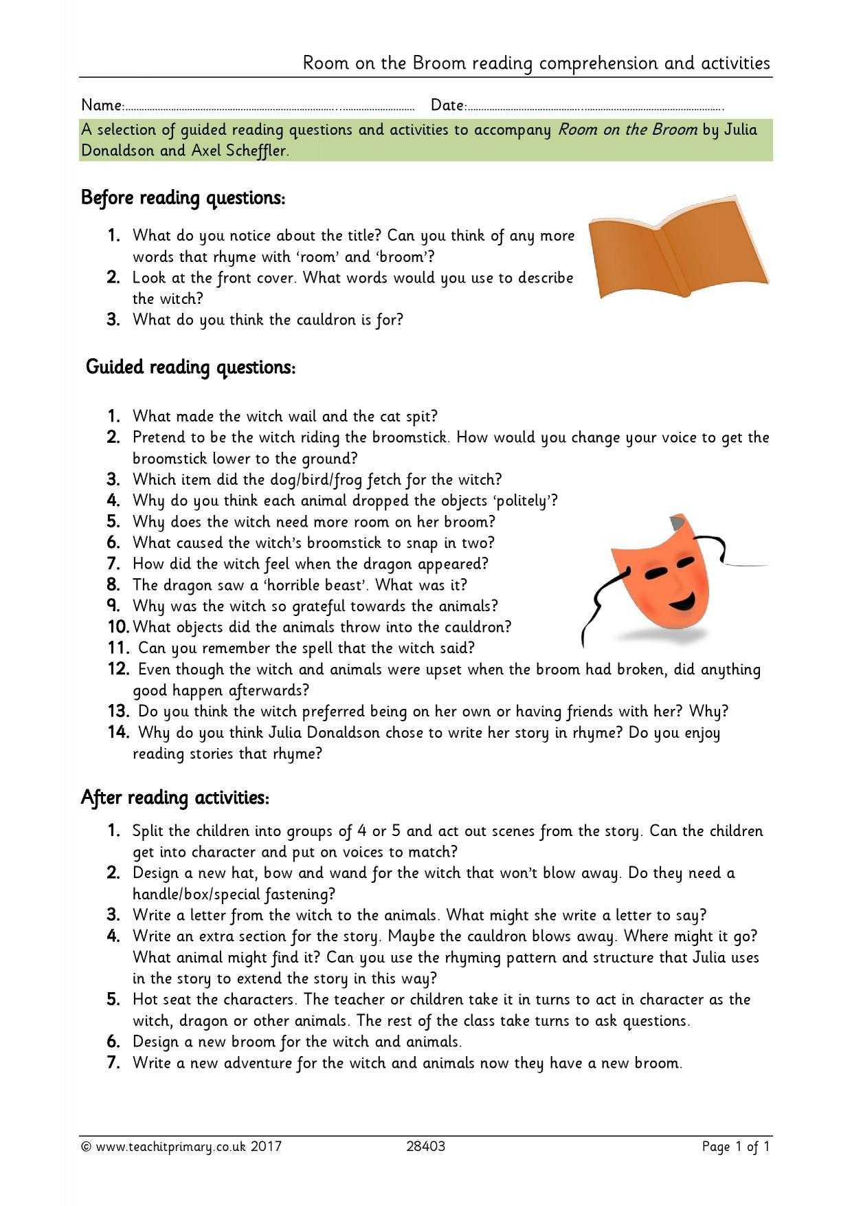 Skills Worksheet Directed Reading A Answer Key Along With