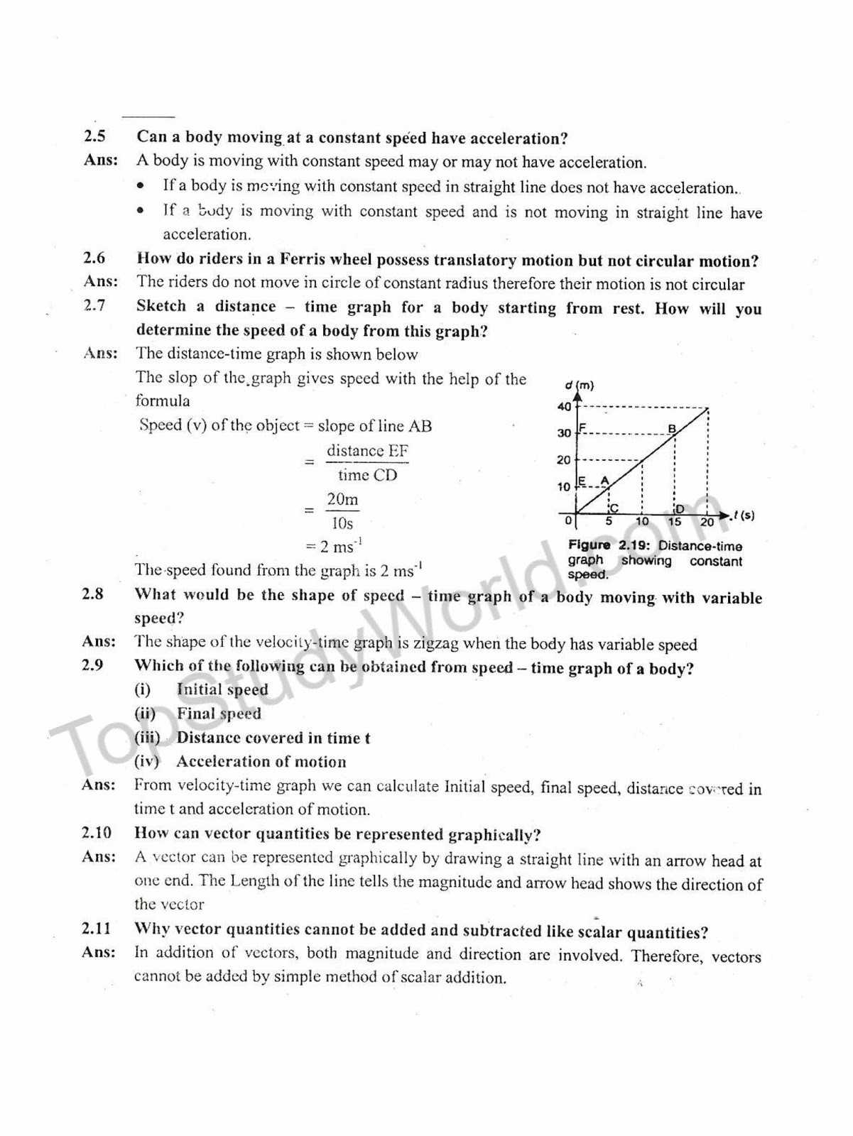 Speed And Velocity Worksheet Answer Key Also Physics