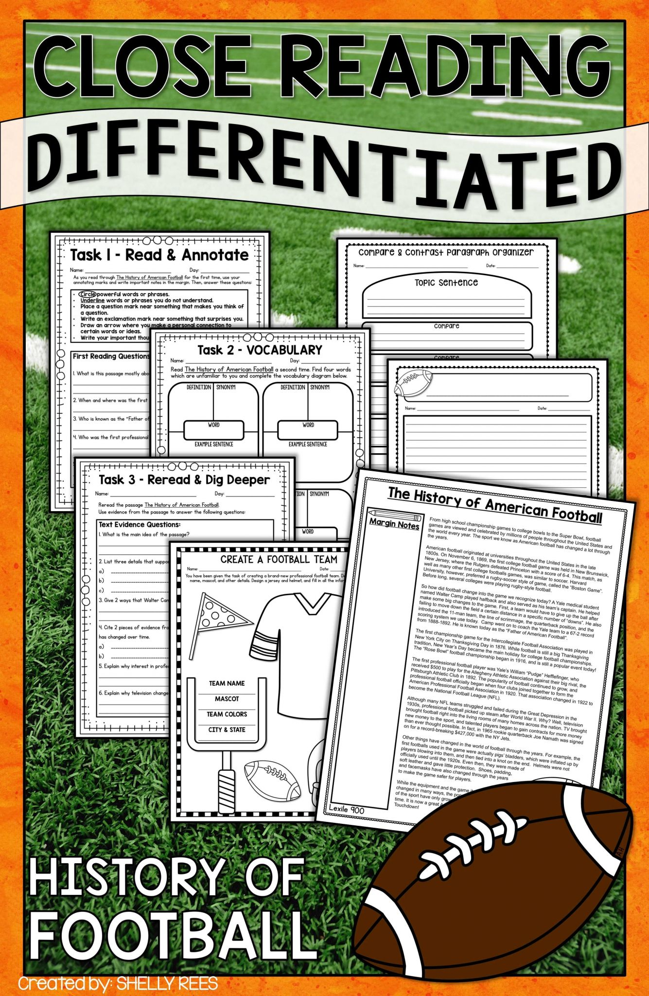 Text Annotation Worksheet together with Football Reading Prehension Unit Pinterest
