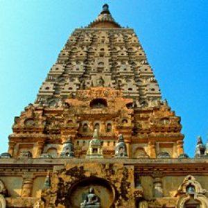 Mahabodhi Mahavihara temple in Bodhgaya.