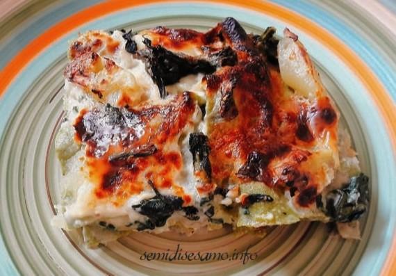 lasagne con coste e patate