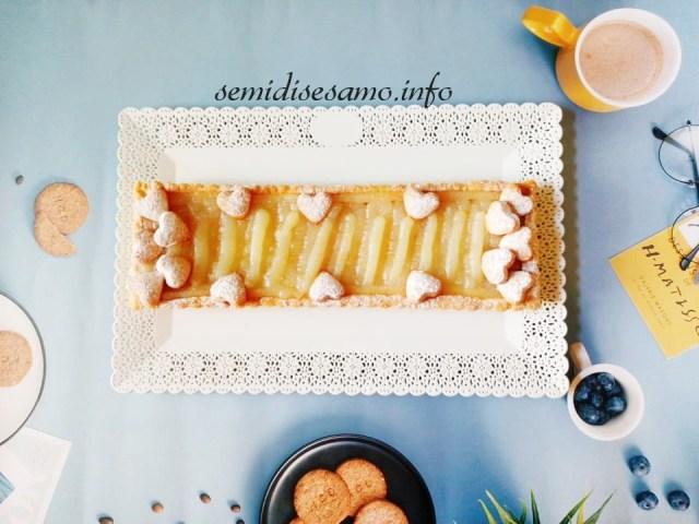 crostata con frolla all'olio e crema al limone senza uova
