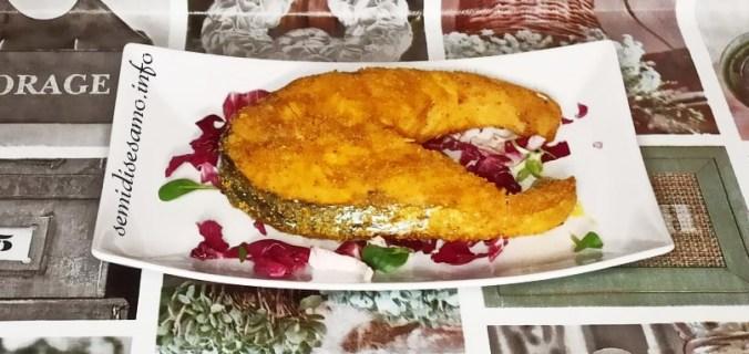Trancio di salmone impanato, ricetta friggitrice ad aria