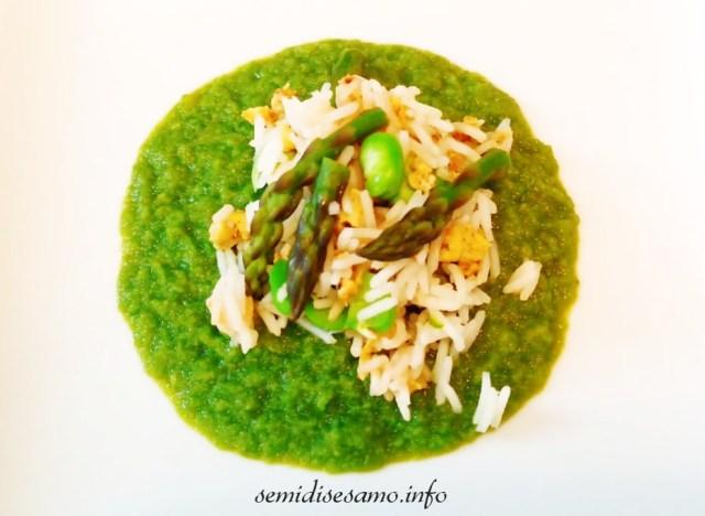 risotto primaverile con asparagi e fave