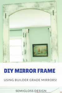 How to Make a Mirror Frame for Your Builder Grade Mirrors