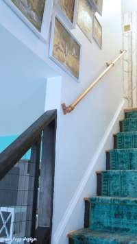 Super Easy DIY Stair Handrail Made from Copper Pipe ...