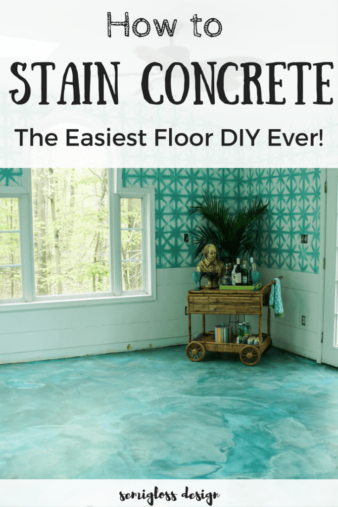 DIY Stained Concrete Floors are So Easy  semigloss design