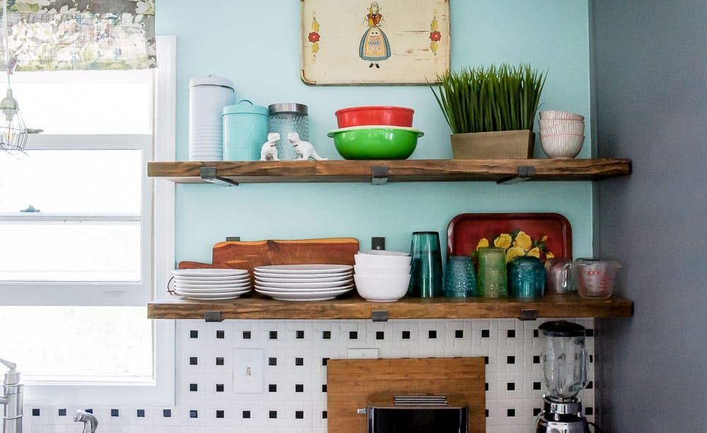 kitchen shelf brackets kids play kitchens how to install that mimic floating shelves learn love the look of