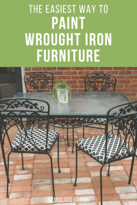 How to Paint Wrought Iron Furniture the Easy Way!