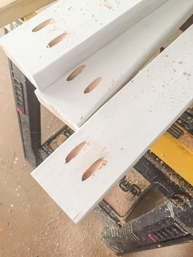 build kitchen table aid double oven learn how to make an easy diy drill pocket holes in ends