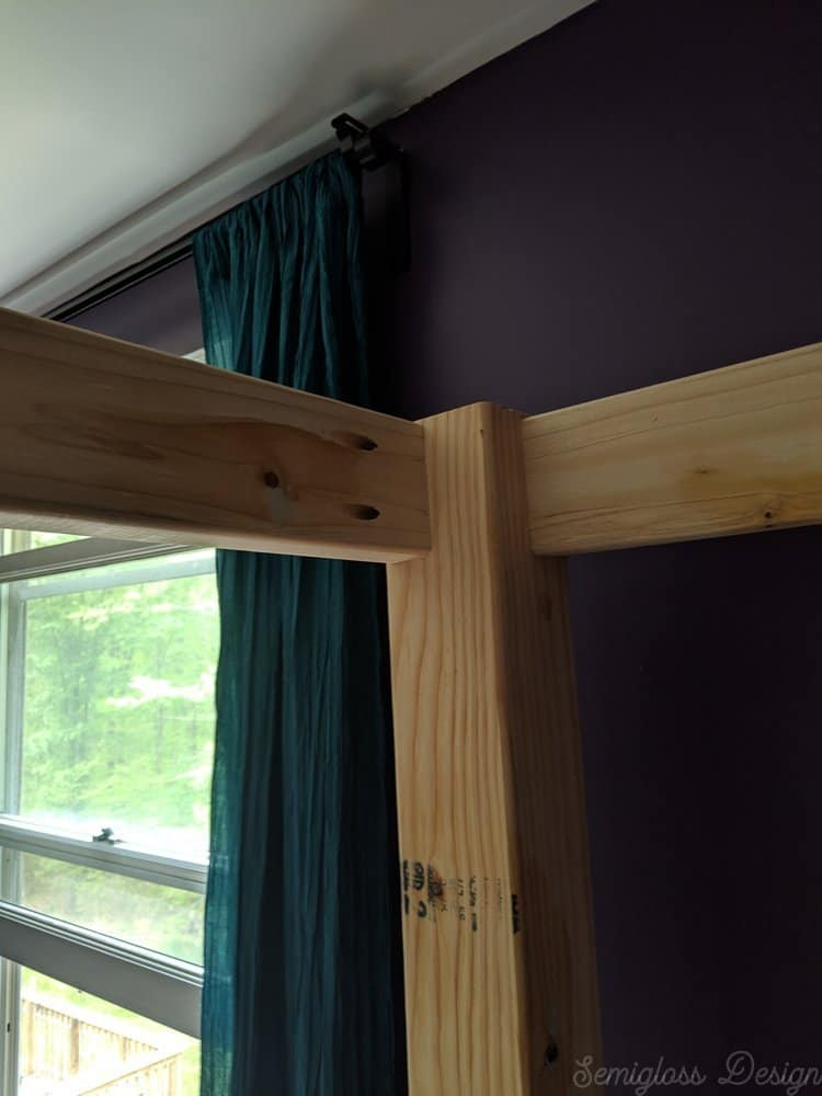 how to build a diy canopy bed frame