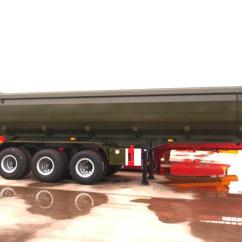 Semi Trailers For Sale In Germany Minn Kota Endura 50 Parts Diagram Triple Axles 60 - 80 Ton Construction Dump Trailer Hydraulics , Sand Dumping