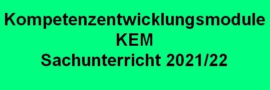 KEM 2021 Kompetenzentwicklungsmodule SU Seminar Nürtingen