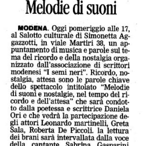 05-07-2009 – Reading al Giardino Ducale di Modena