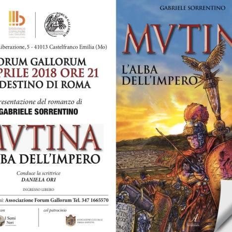 """Gabriele Sorrentino porta """"Mvtina, l'alba dell'Impero"""" a """"Il Magazzino del Gufo"""""""