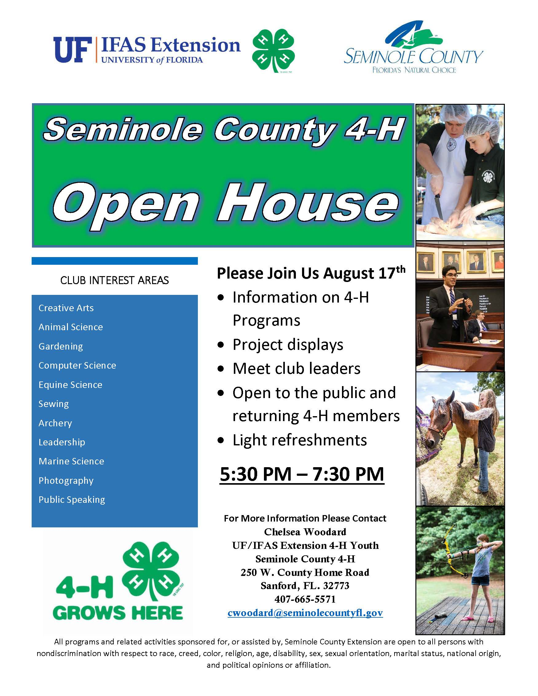 Seminole County 4 H Open House