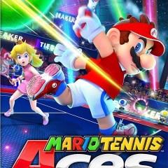 Il tient son manche à deux mains [Mario Tennis Aces, Switch]