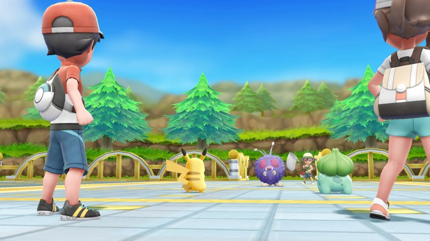 Pokémon let's go Pikachu affrontements 2 joueurs Switch