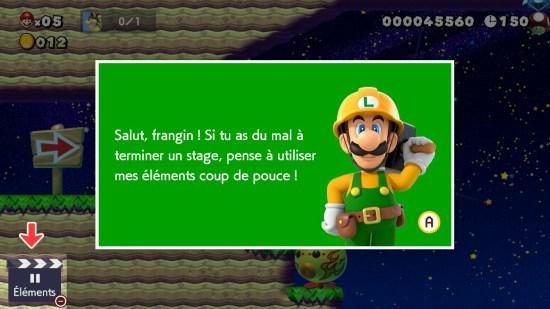 Super Mario Maker 2 Luigi