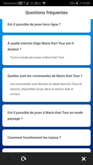 Mario Kart Tour Mobile règlement