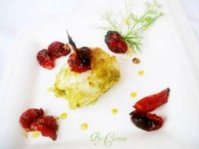 Involtini di pesce S.Pietro con bruschetta di pomodorini