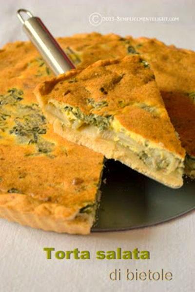 Torta salata di bietole con pasta brisée senza burro