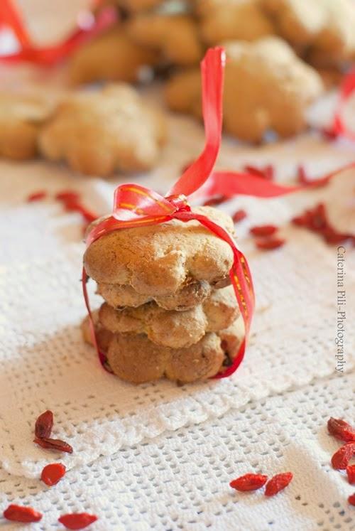 Biscotti integrali con bacche di goji