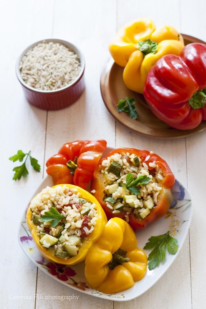 Peperoni ripieni ricetta light vegana