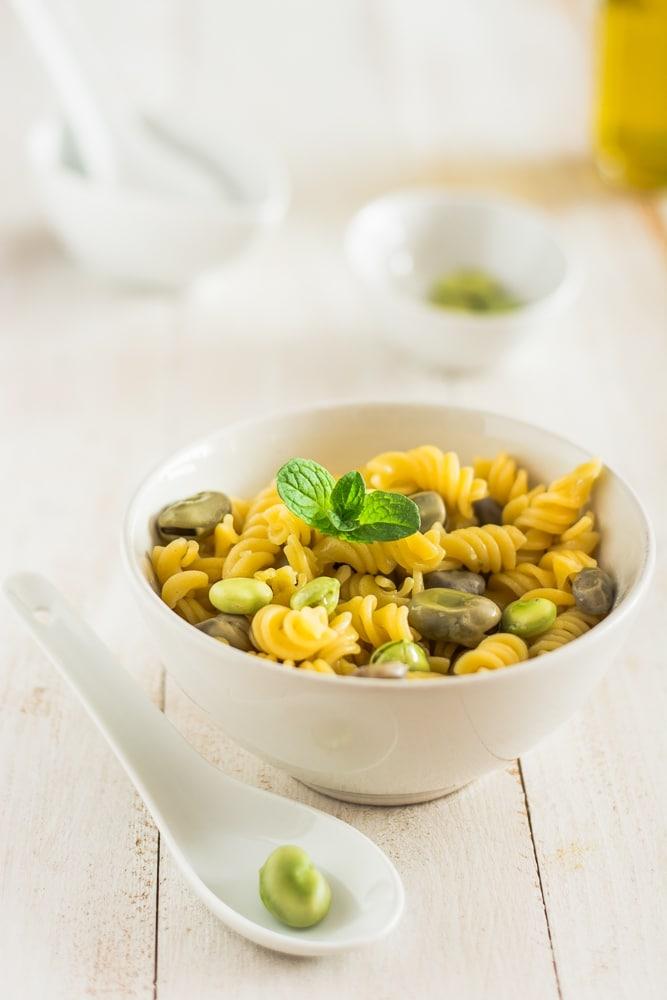 pasta e fave light vegana senza glutine