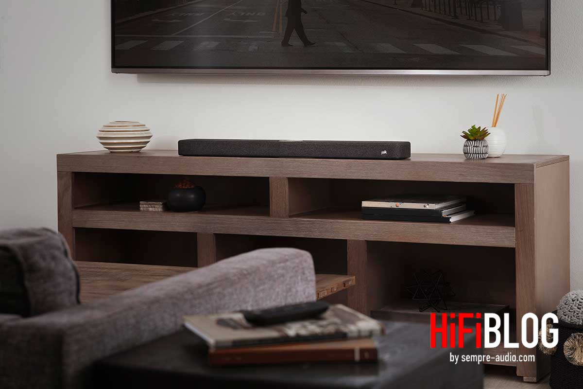 Polk React Soundbar - Mit virtuellem Surround Sound und Amazon Alexa Integration