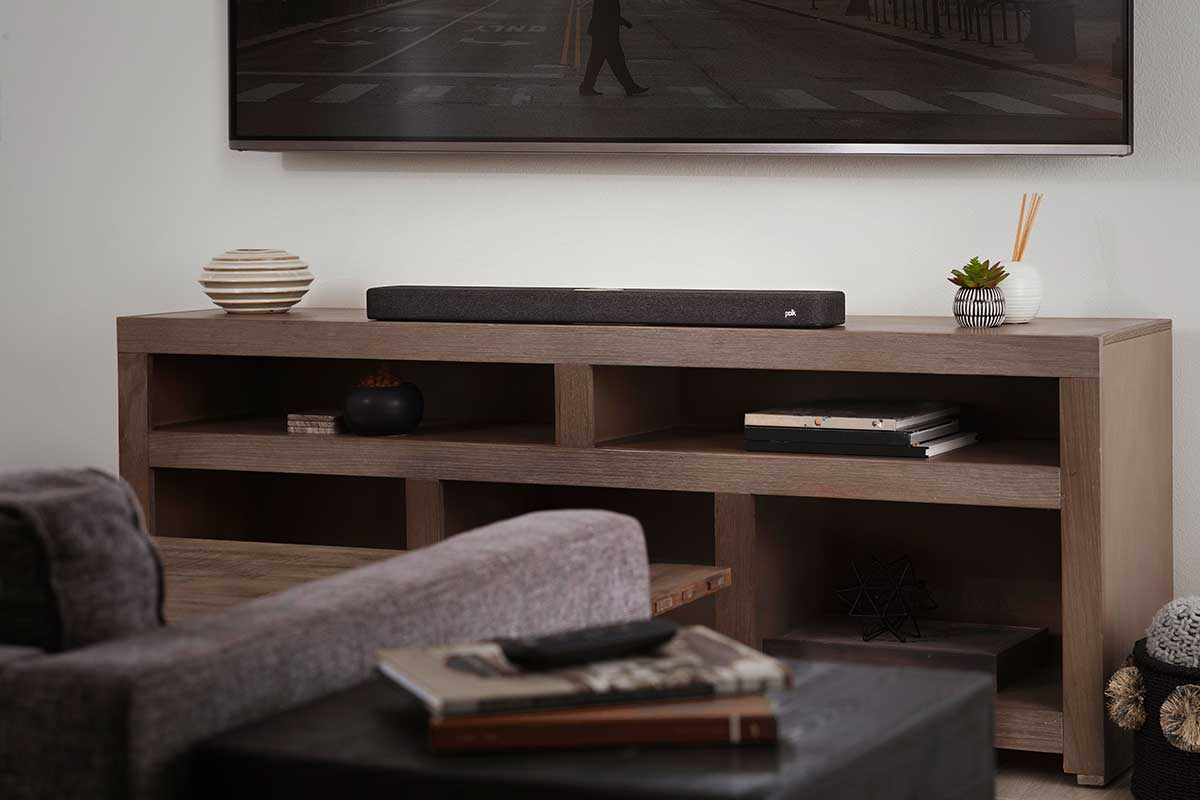 Polk React Soundbar –  Mit virtuellem Surround Sound und Amazon Alexa Integration