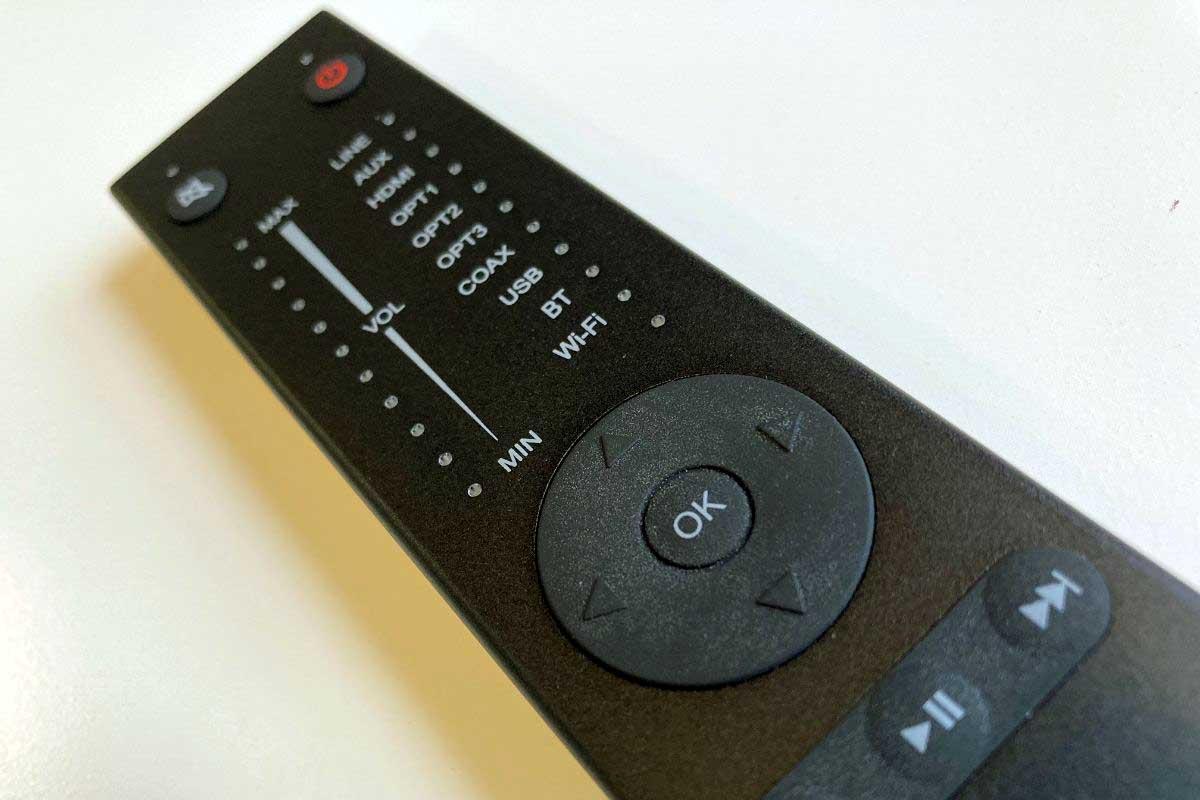 System Audio Stereo Hub – Neue Fernbedienung