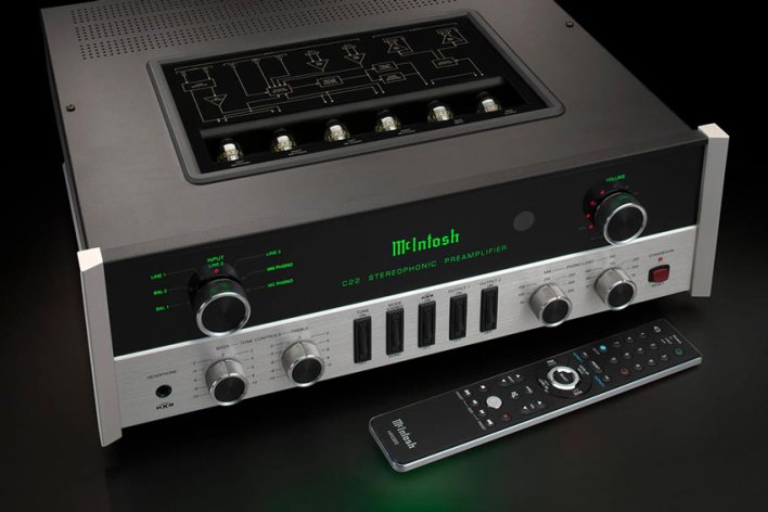 McIntosh C22 2 Channel Vacuum Tube Preamplifier Mk V 02