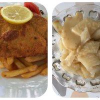 Schweinsschnitzel & Zellersalat nach Wiener Art