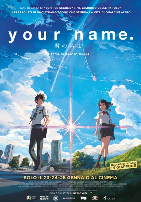 Your Name al cinema: elenco sale