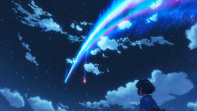 La magia della foto del Santuario con stella cadente ad Izu