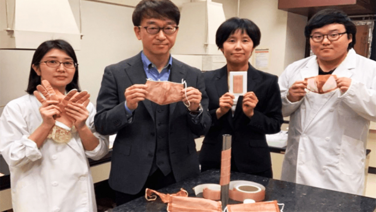 Dal Giappone unanuova mascherina in fibra di rame