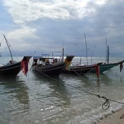 Barcos pesqueros en un día gris