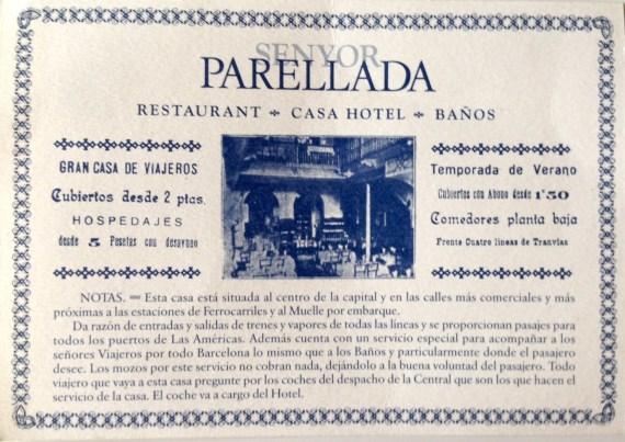 Cartel antiguo del hotel-restaurante