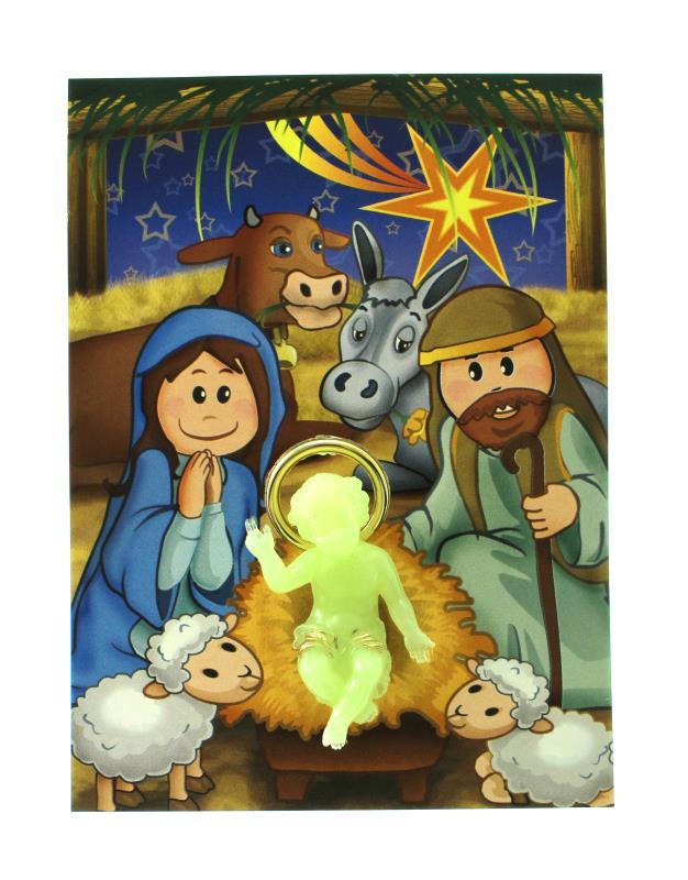 The child looks out the window on christmas of … Cartoncino Con Gesu Bambino Fosforo Articoli Regalo Per Natale
